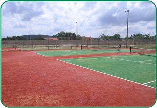 Example of our synthetic grass tennis courts