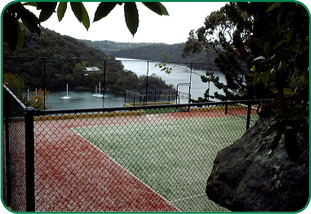 PRIVATE COURT IN MIDDLE HARBOUR NSW