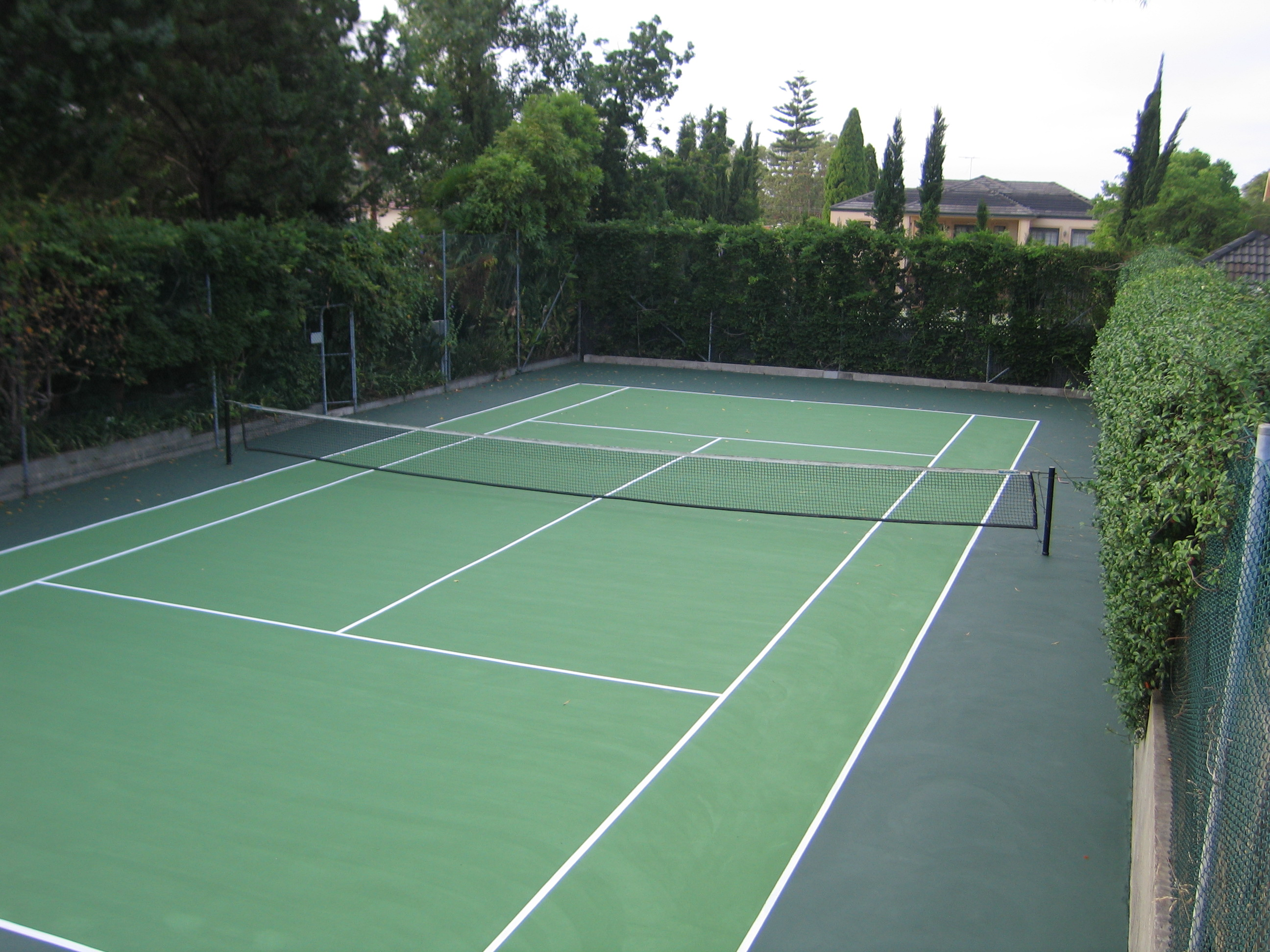 Two Tone Green Court In Strathfield